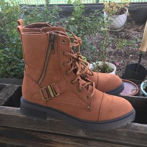 Cute Brown Combat Boots NEW